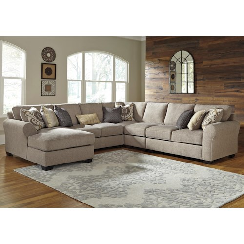 Benchcraft Pantomine 5 Piece Sectional With Left Chaise