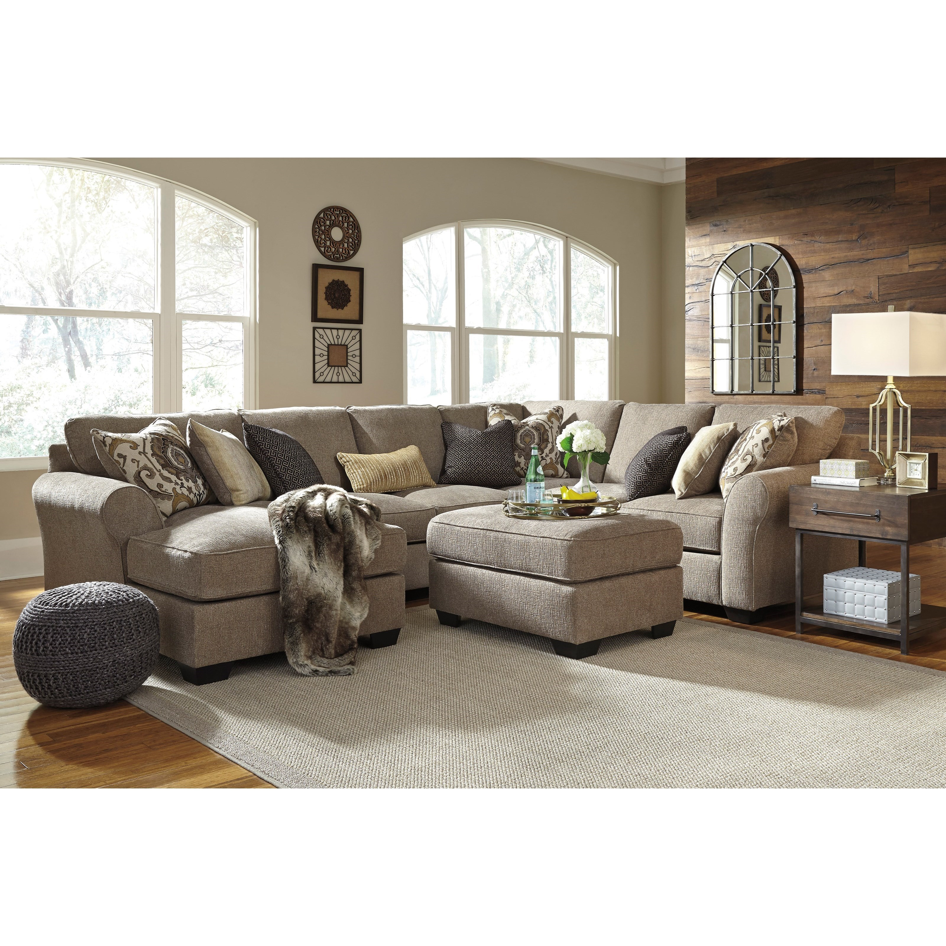 Pantomine 4-Piece Sectional with Left Chaise by Benchcraft  sc 1 st  Dunk u0026 Bright Furniture : benchcraft sectional - Sectionals, Sofas & Couches