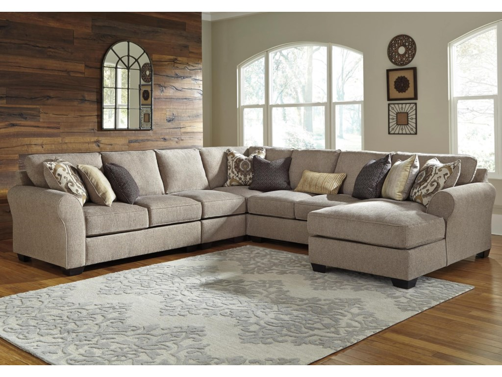 Benchcraft Pantomine5-Piece Sectional with Right Chaise