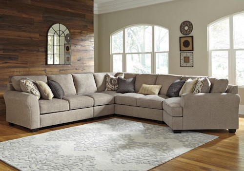 Benchcraft Pantomine 5-Piece Sectional with Right Cuddler
