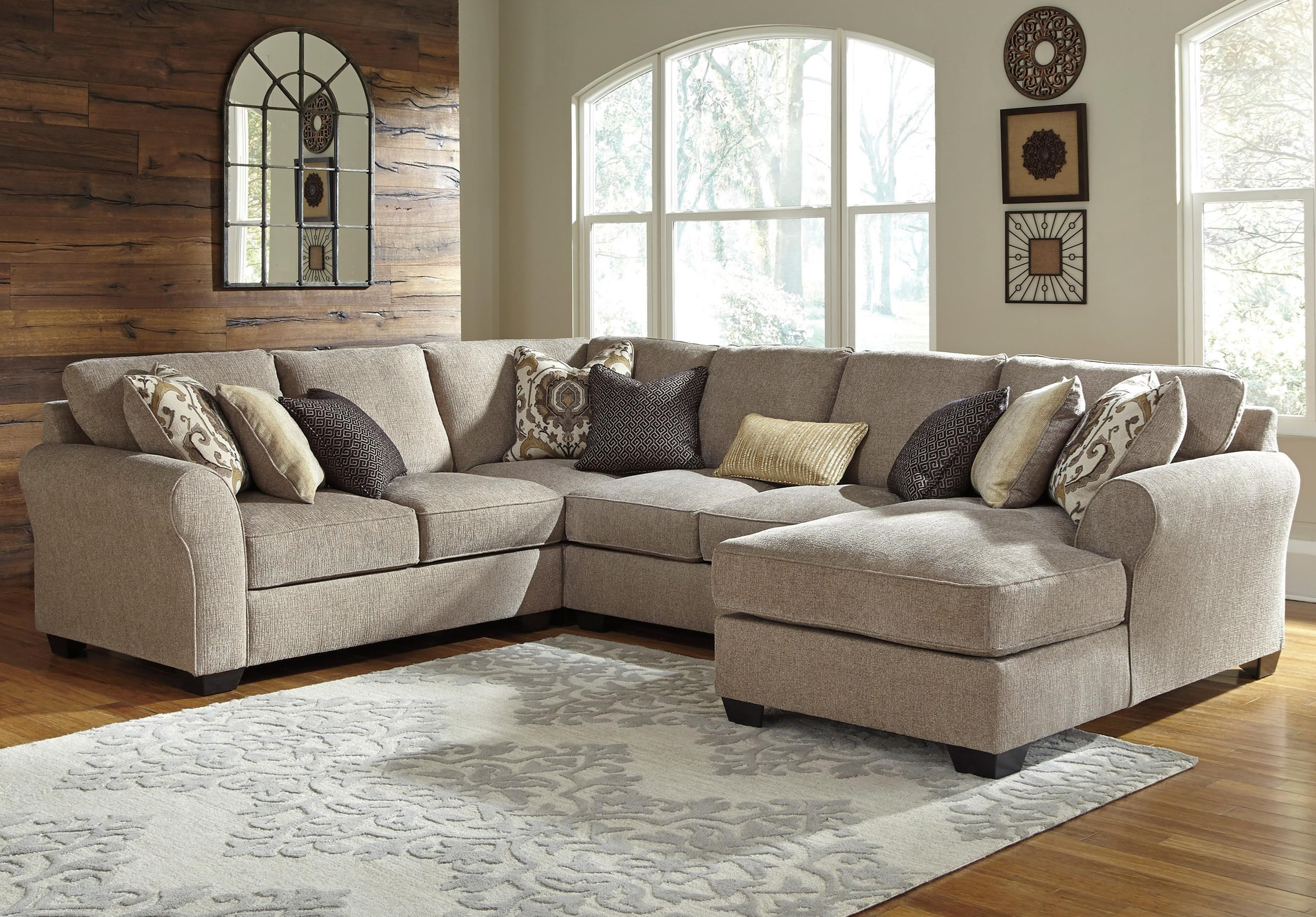 Pantomine 4 Piece Sectional With Right Chaise   Becker Furniture World    Sofa Sectional
