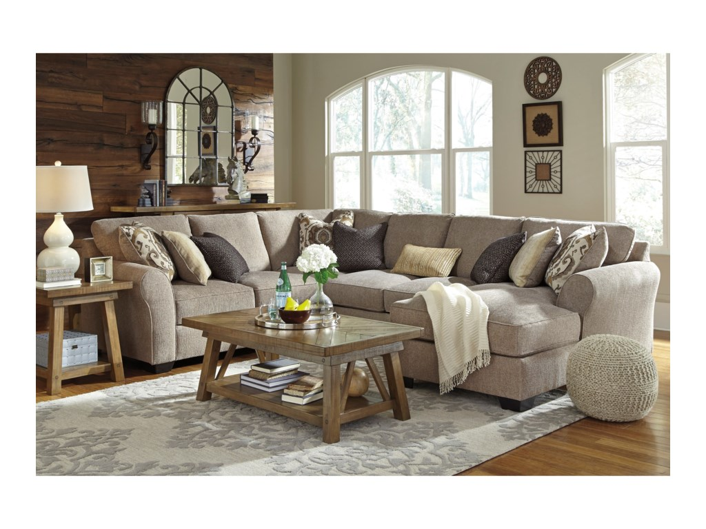 Ashley Pantomine4-Piece Sectional with Right Chaise