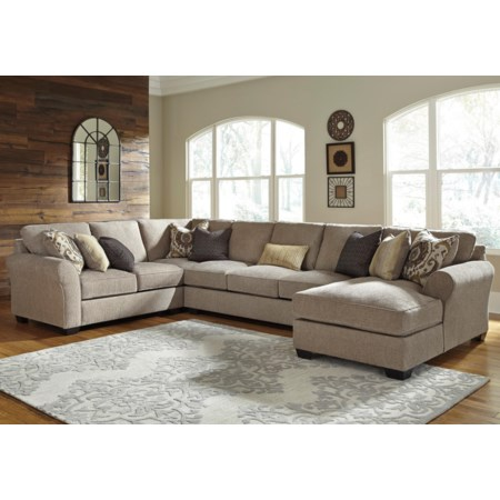 4-Piece Sectional w/ Chaise & Armless Sofa