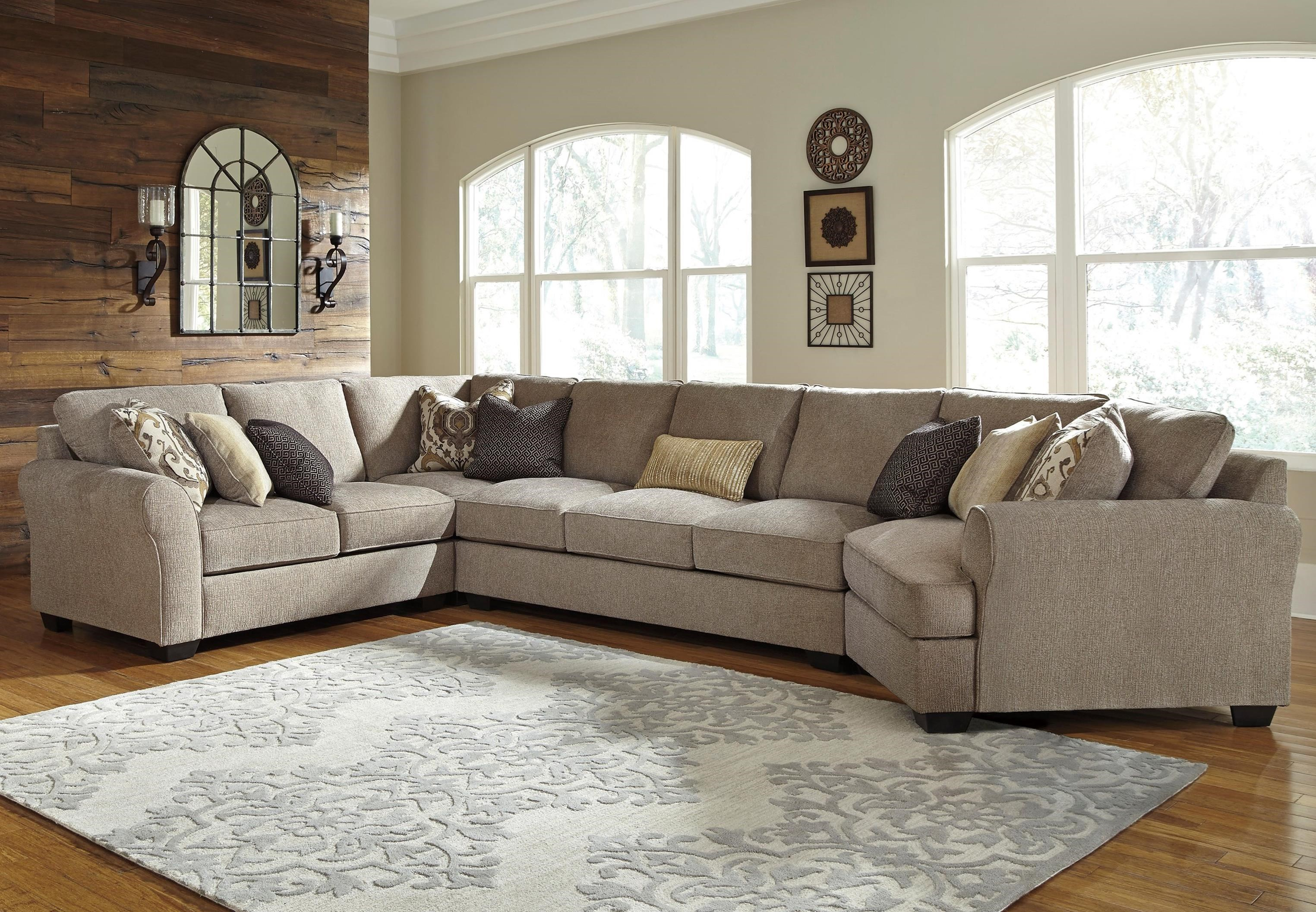 Benchcraft Pantomine 4 Piece Sectional With Right Cuddler U0026 Armless Sofa