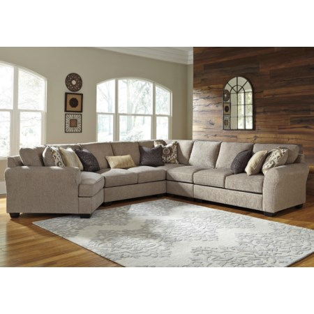 5-Piece Sectional with Left Cuddler