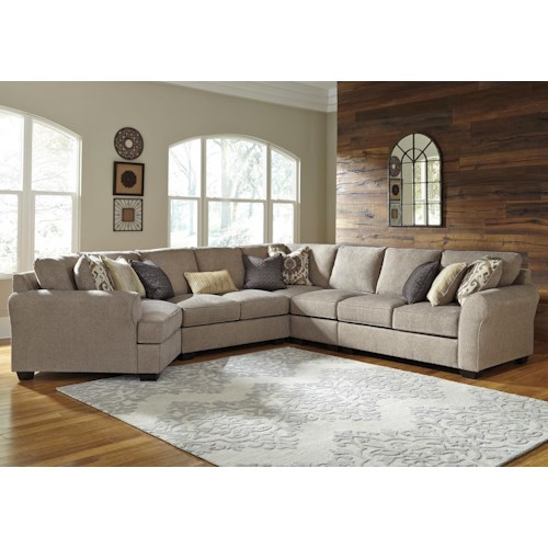 Benchcraft pantomine 5 piece sectional with left cuddler for 5 piece living room furniture