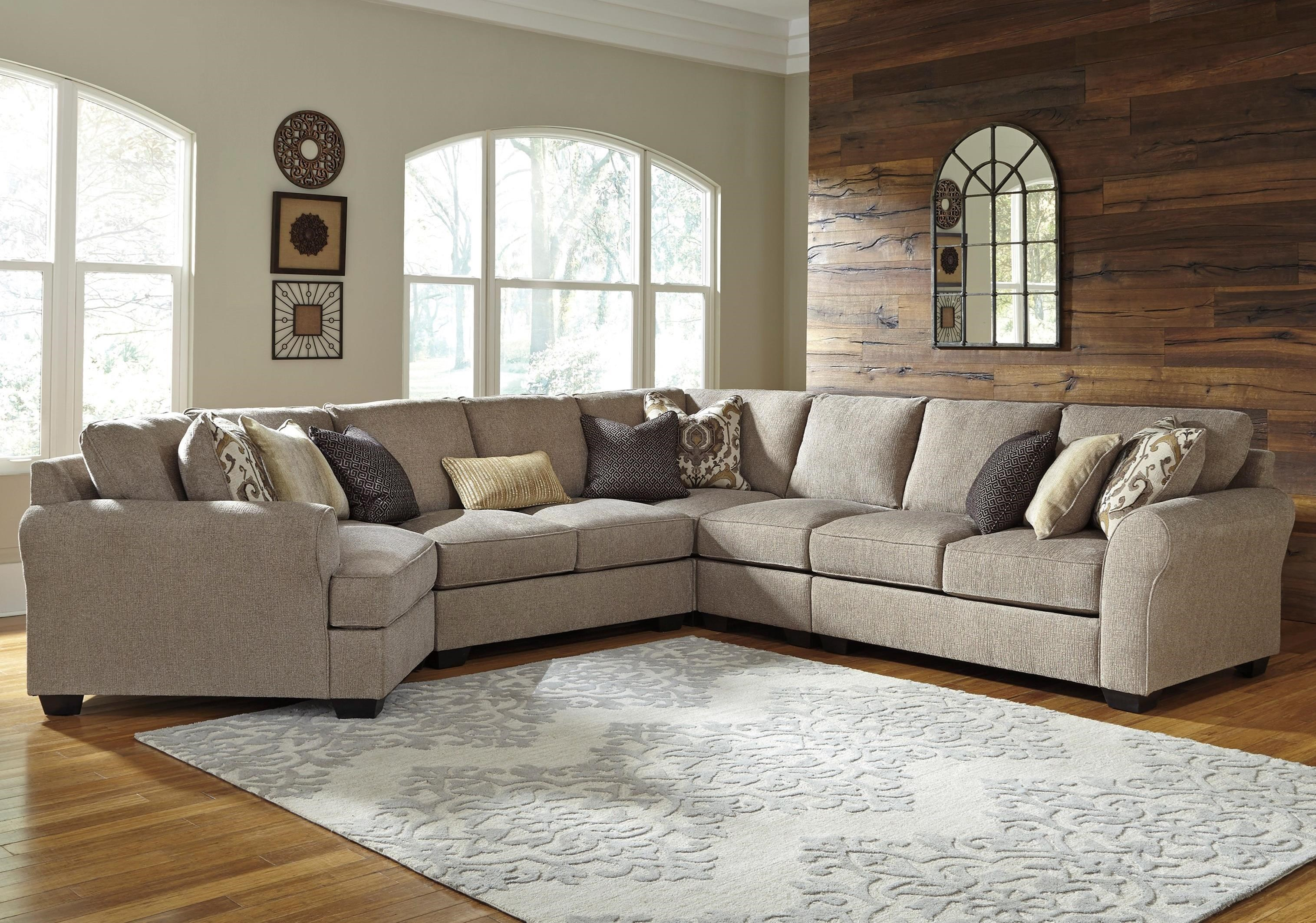 Benchcraft Pantomine 5 Piece Sectional With Left Cuddler