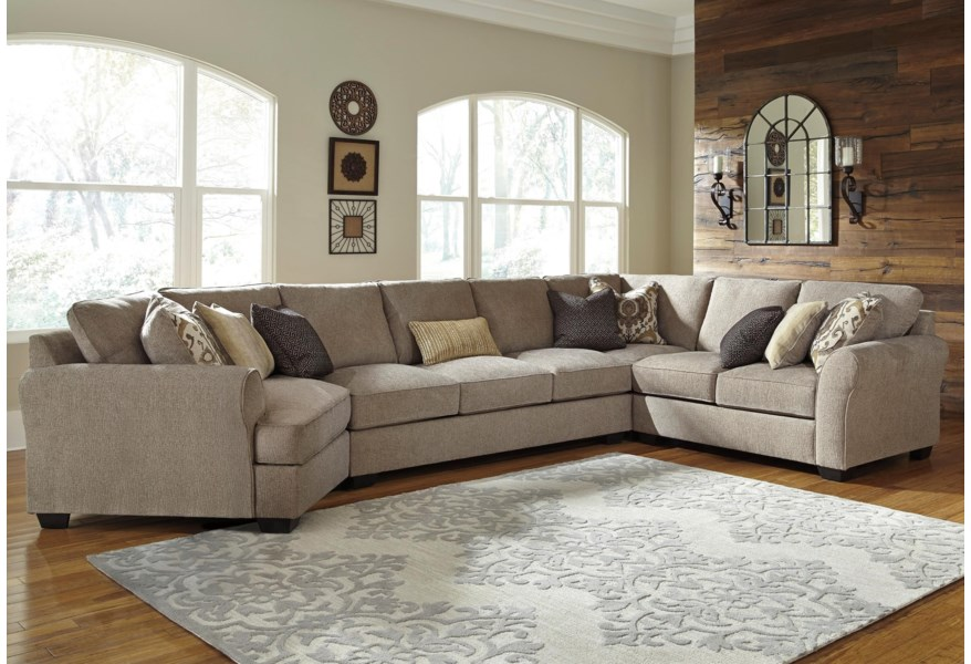 Pantomine 4-Piece Sectional w/ Cuddler & Arrnless Sofa