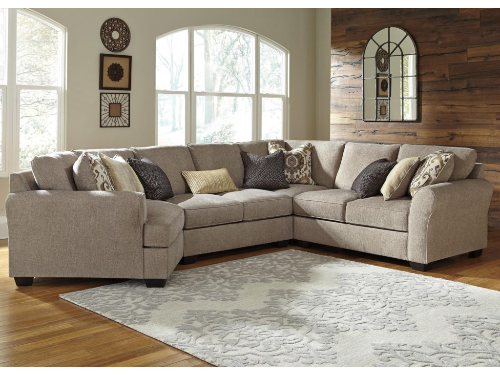 Ashley pantomine4 piece sectional with left cuddler