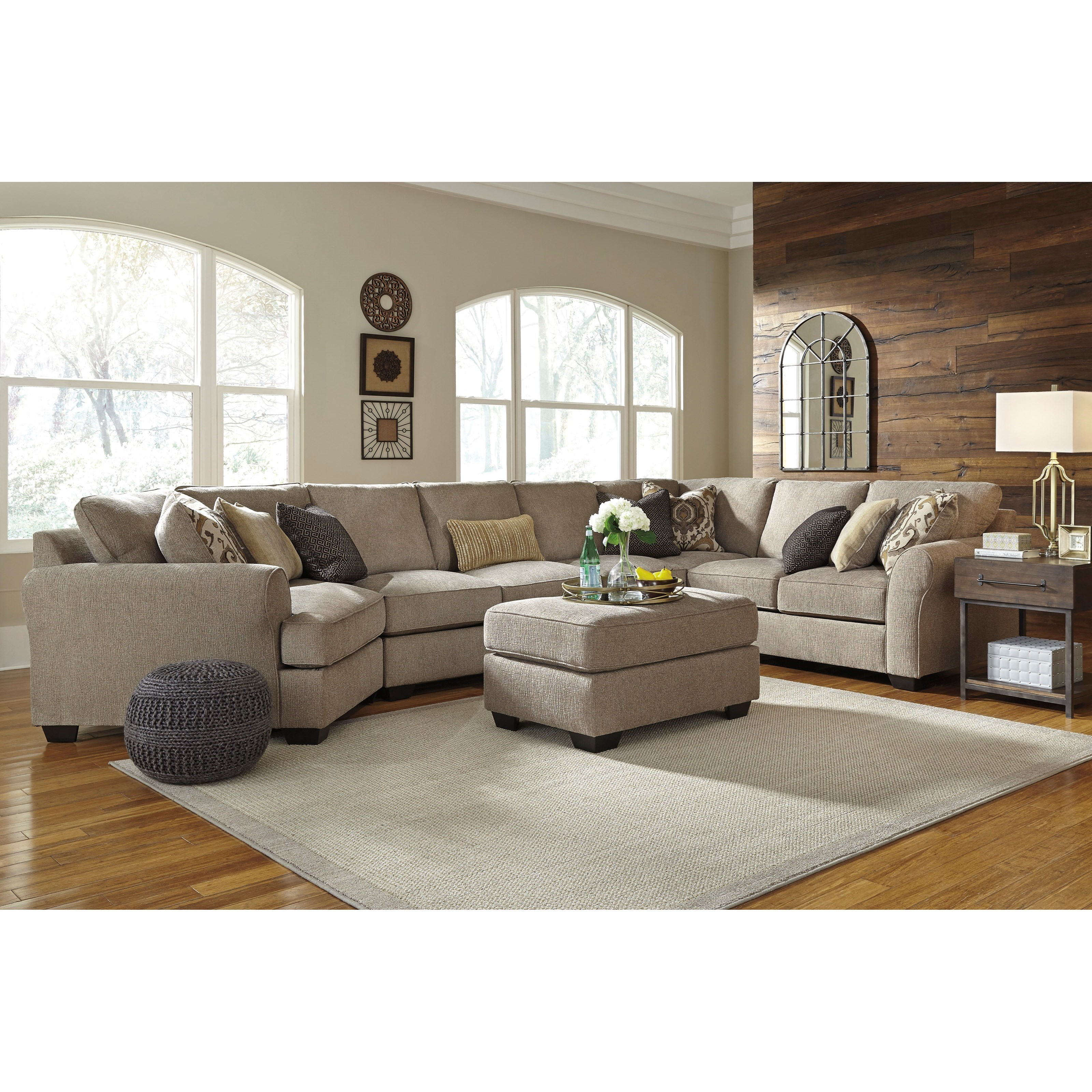 pantomine 4piece sectional with left cuddler u0026 armless sofa by benchcraft