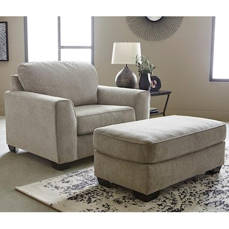 Chair and 1/2 & Ottoman Set