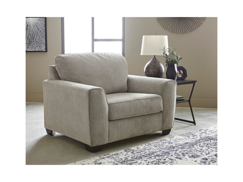 Signature Design By Ashley ParlstonChair and 1/2 & Ottoman Set