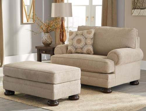 Benchcraft Quarry Hill Chair And A Half Ottoman Northeast
