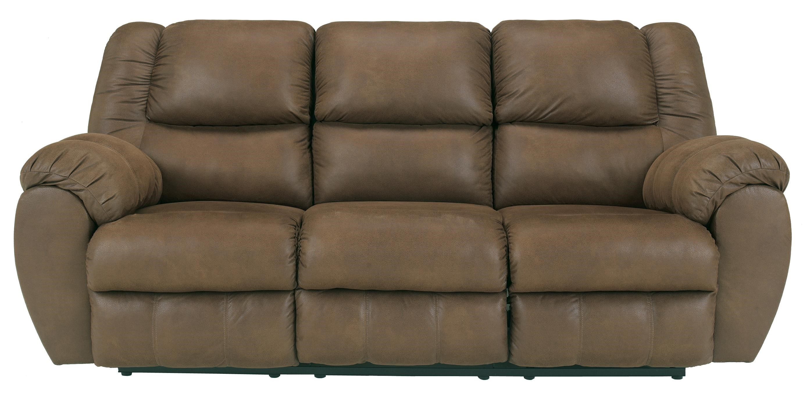 Benchcraft Quarterback - Canyon Reclining Sofa in Faux Brown Leather  sc 1 st  Wayside Furniture & Benchcraft Quarterback - Canyon Reclining Sofa in Faux Brown ... islam-shia.org