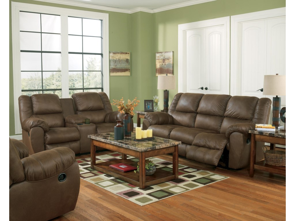 Benchcraft Quarterback - CanyonReclining Sofa