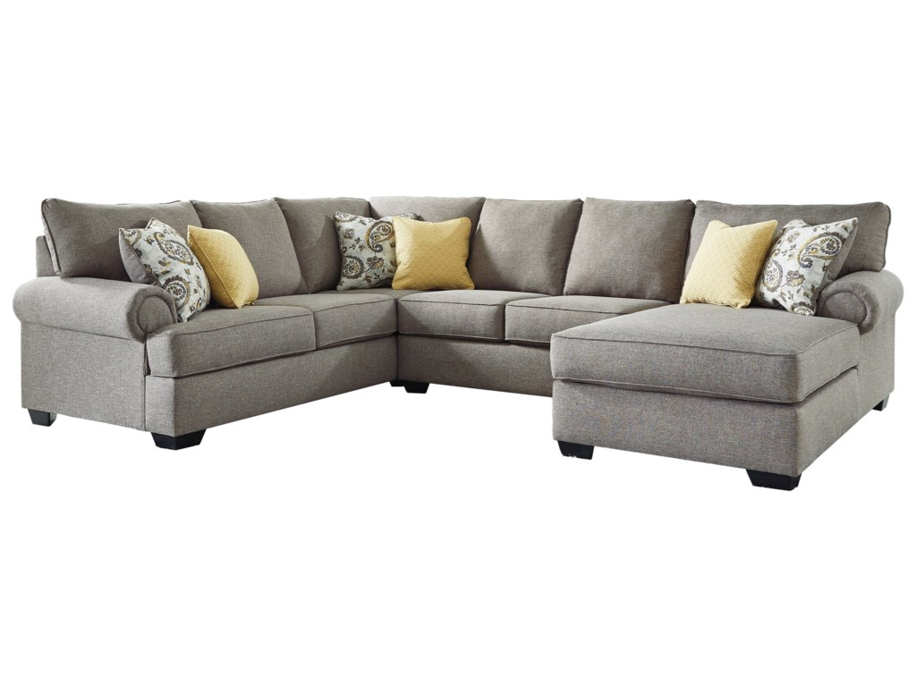 Renchen Casual 3-Piece Sectional by Benchcraft at Household Furniture