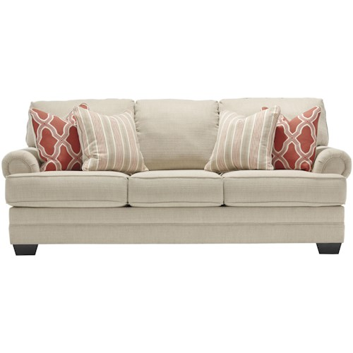 Benchcraft Sansimeon Sofa with Rolled Panel Arms