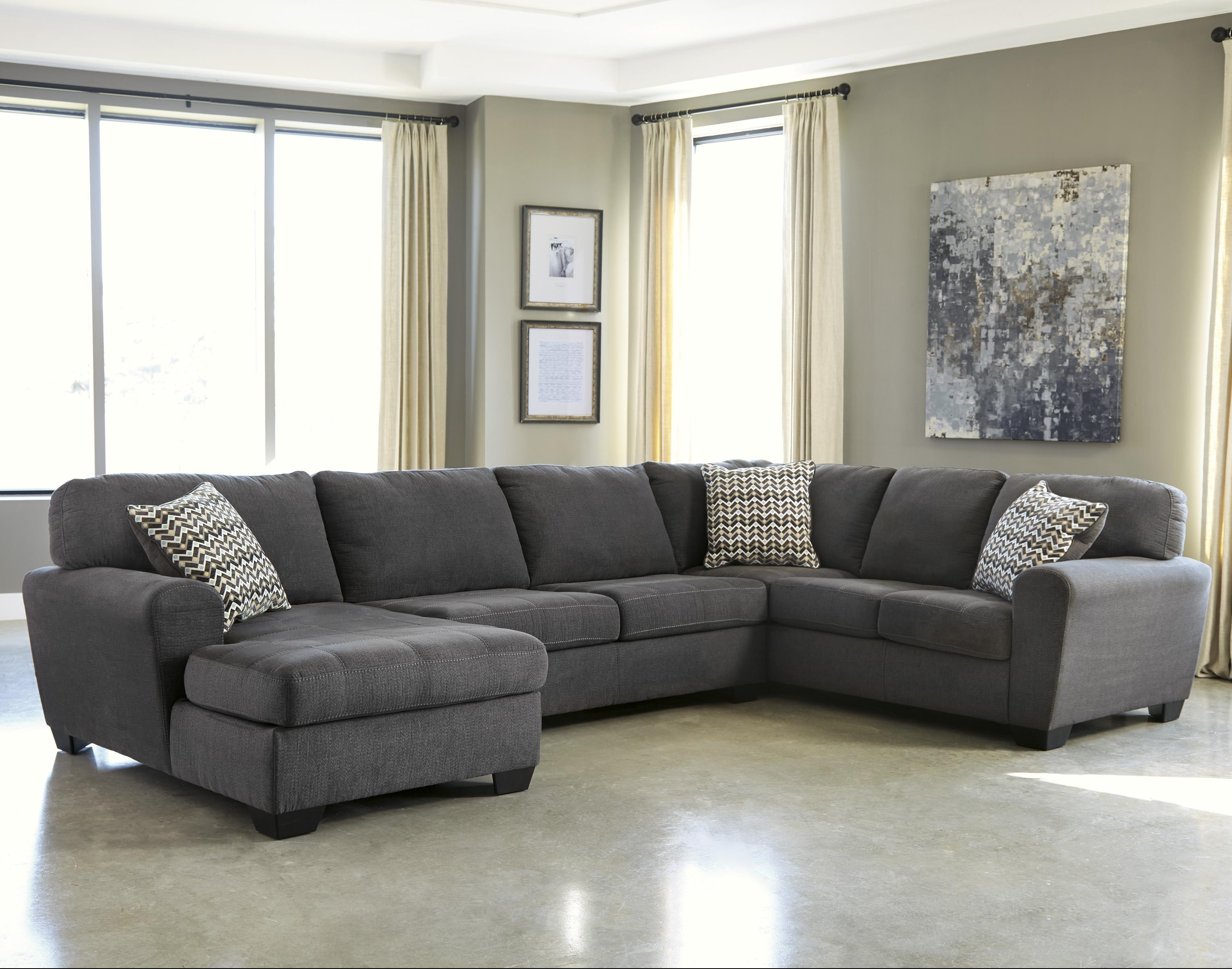 Benchcraft By Ashley Sorenton Contemporary 3 Piece Sectional With Left Chaise Royal Furniture Sectional Sofas