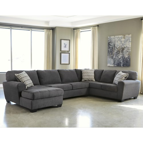 Benchcraft Sorenton Contemporary 3-Piece Sectional with Left Chaise