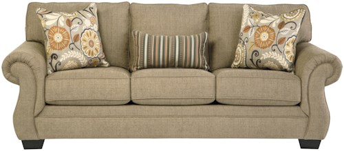 Benchcraft Tailya Transitional Sofa with Coil Seating
