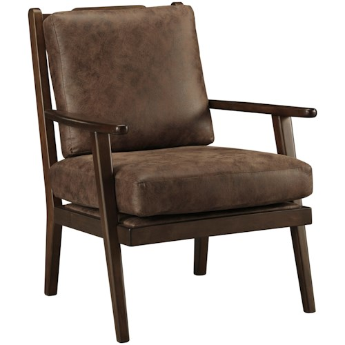 Benchcraft Tanacra Accent Chair with Wood Frame and Slat Back