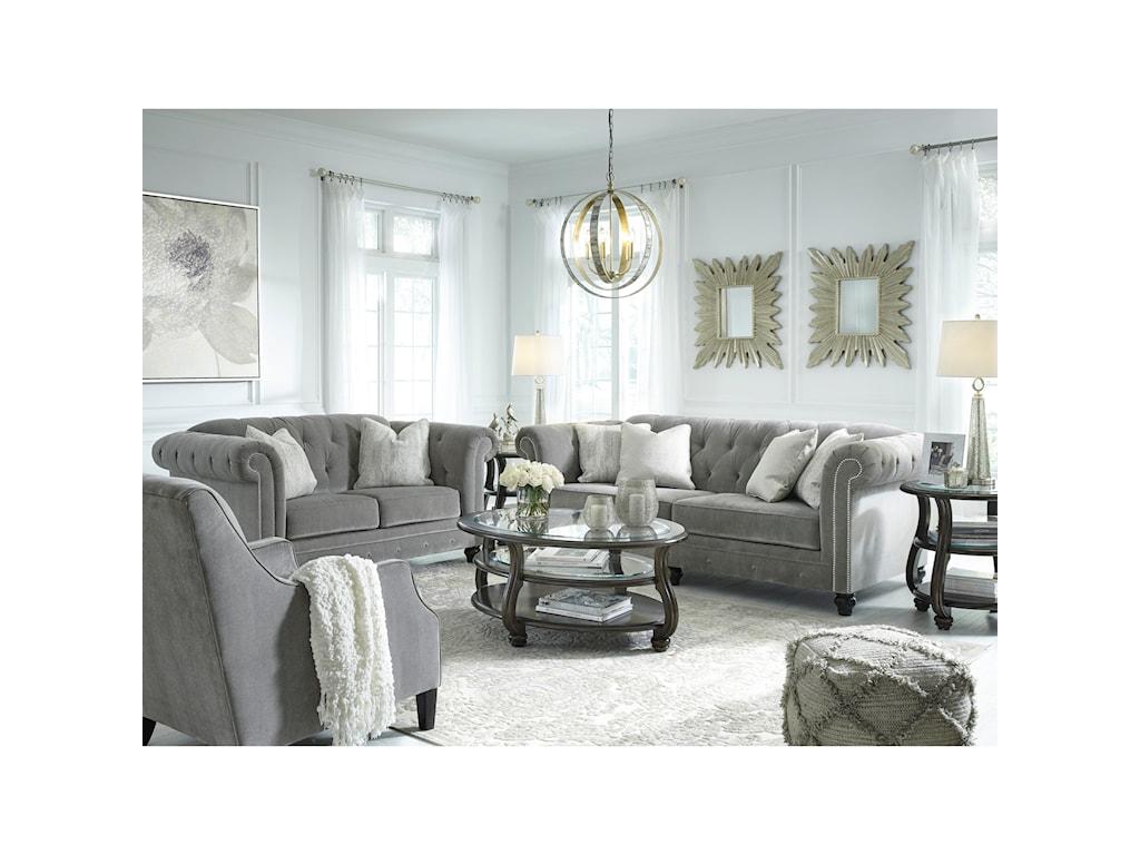 Benchcraft by Ashley Tiarella Stationary Living Room Group | Royal ...