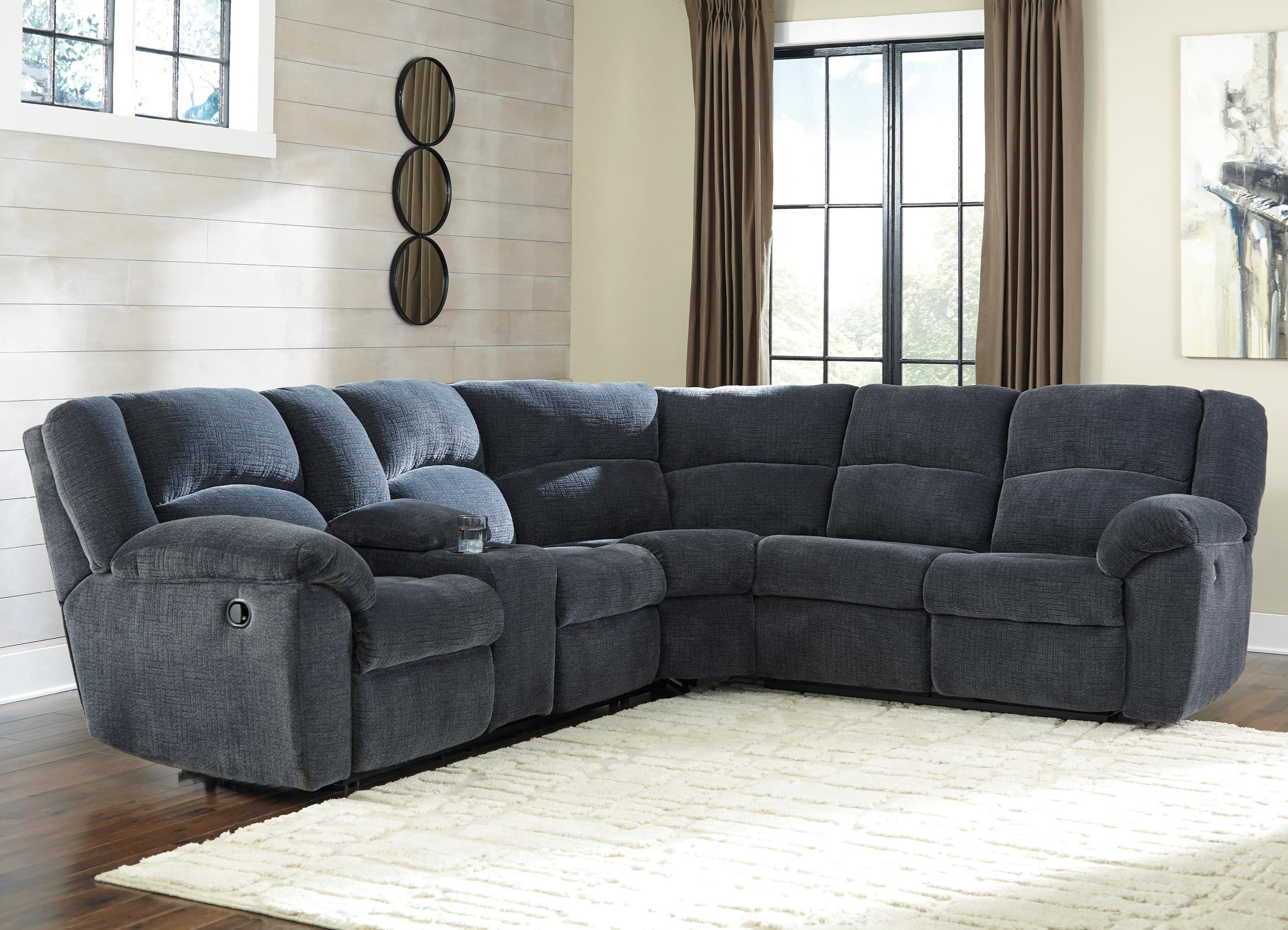 Benchcraft Timpson Reclining Sectional with Storage Console  sc 1 st  Wayside Furniture & Benchcraft Timpson Reclining Sectional with Storage Console ... islam-shia.org