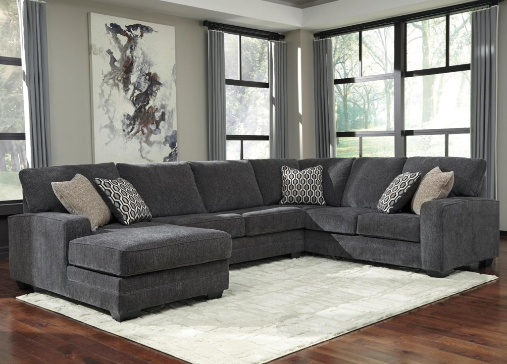 Tracling Contemporary Sectional With Left Chaise Becker Furniture
