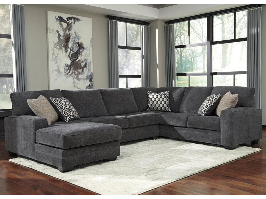 Tracling Contemporary Sectional With Left Chaise By Ashley At Becker Furniture World