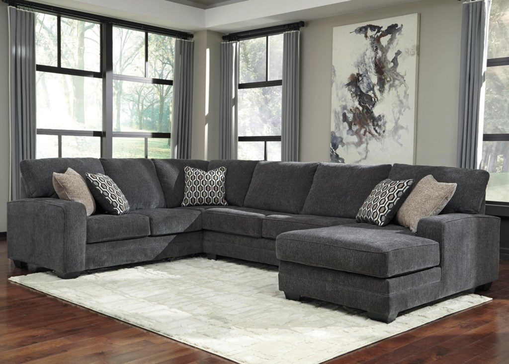Benchcraft By Ashley Tracling Contemporary Sectional With Right