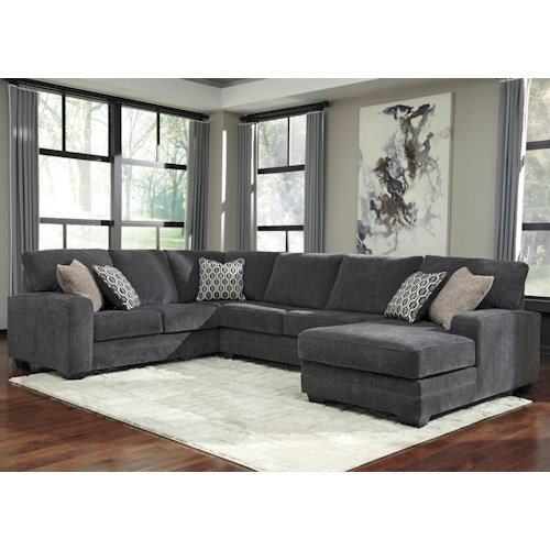 Benchcraft Tracling Contemporary Sectional with Right Chaise