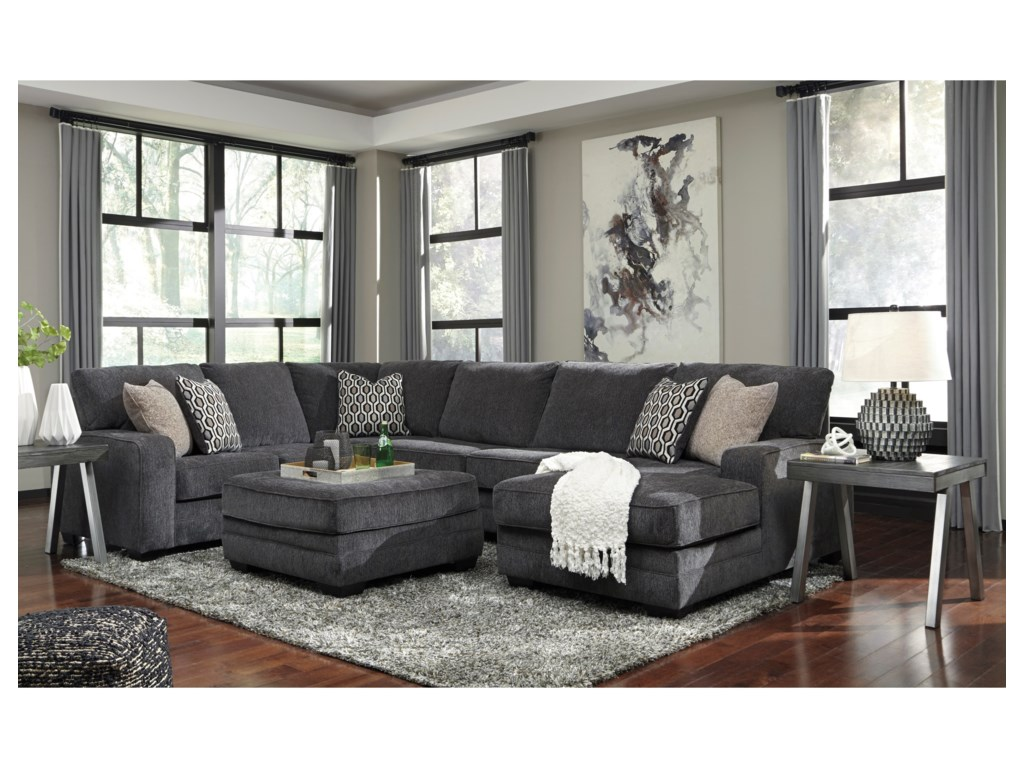 Signature Design By Ashley TraclingSectional with Right Chaise