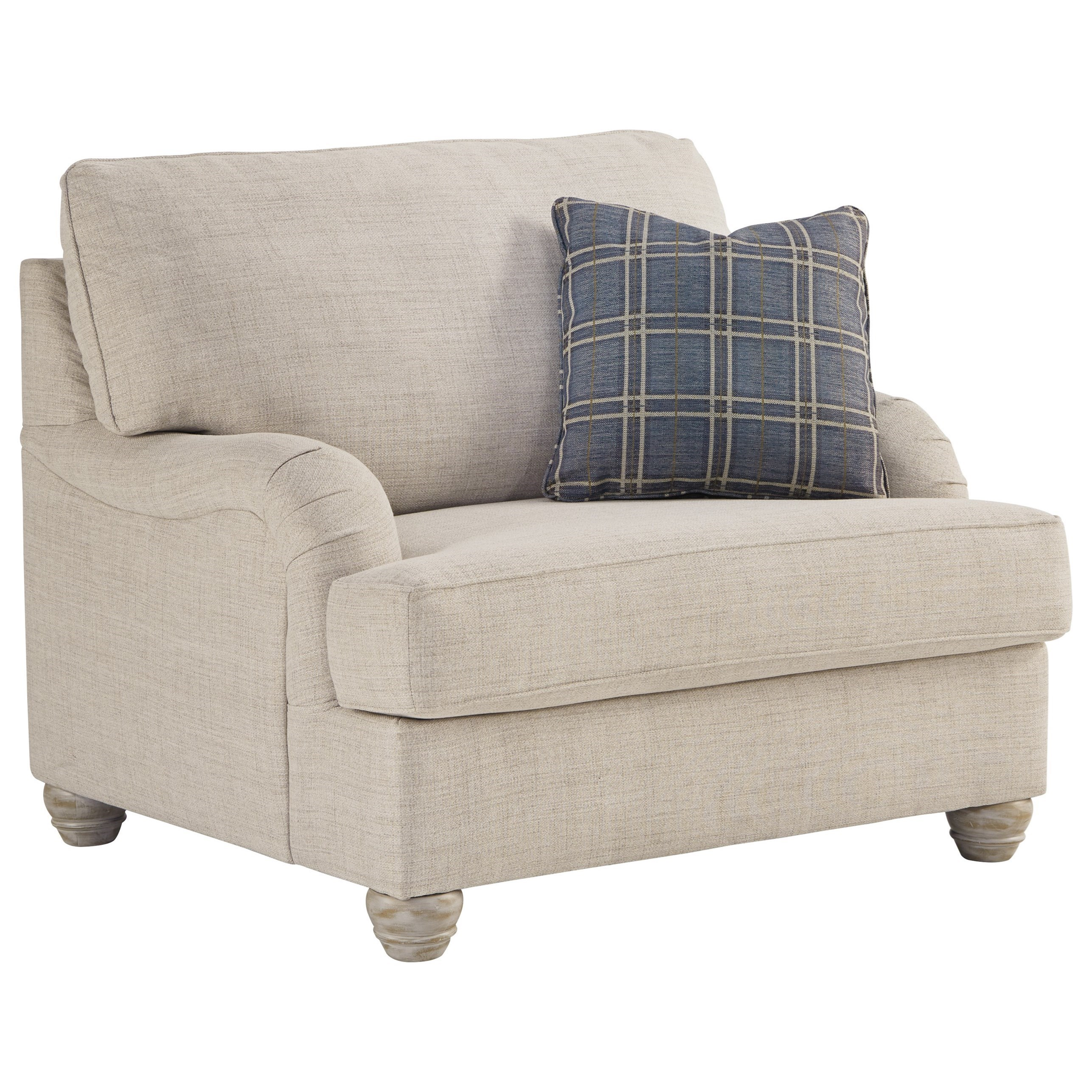 Transitional Chair and a Half with English Arms