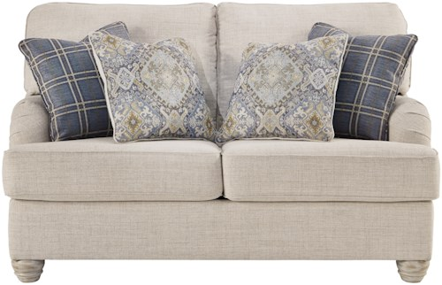Benchcraft Traemore Transitional Loveseat with English Arms