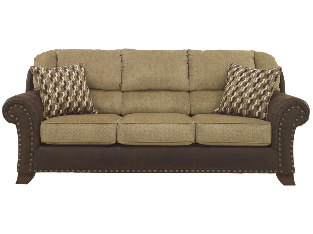 Benchcraft Vandive 4430038 Two Tone Sofa With Chenille Fabric Faux