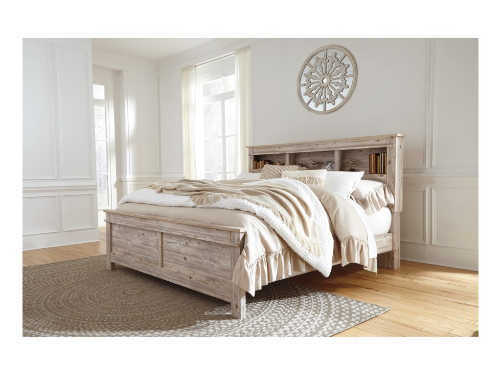 Benchcraft WillabryCalifornia King Bookcase Bed