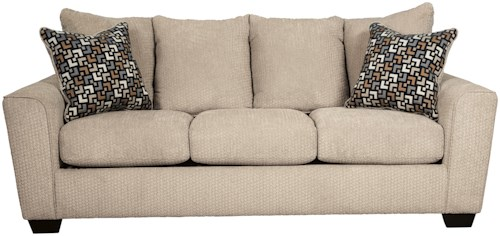 Benchcraft Wixon Sofa with Rounded Track Arms