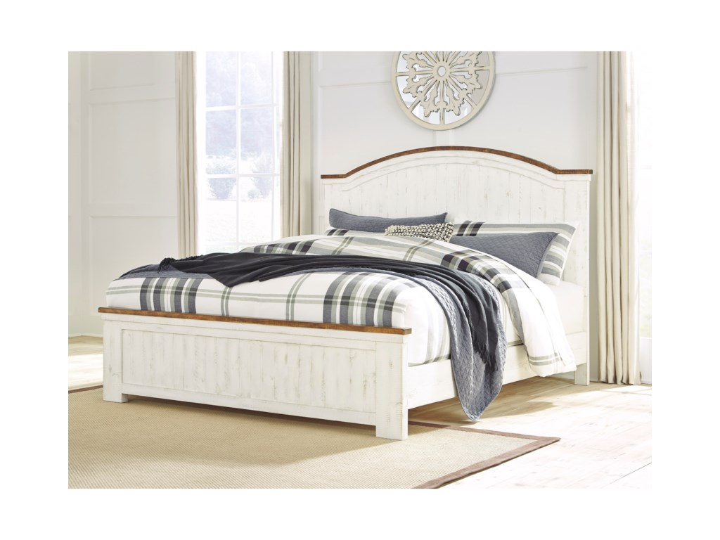 Signature Design By Ashley WystfieldKing Panel Bed
