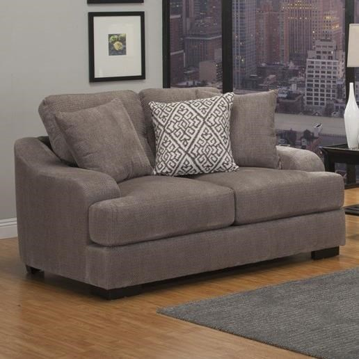 Benchley Furniture Co. Rowland Casual Stationary Loveseat With Plush Gel  Foam Seating