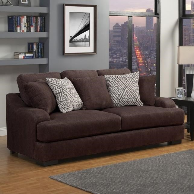 Rowland Casual Stationary Sofa With Plush Gel Foam Seating