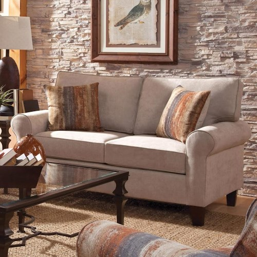 Belfort Essentials Columbia Heights Loveseat with Rolled Arms