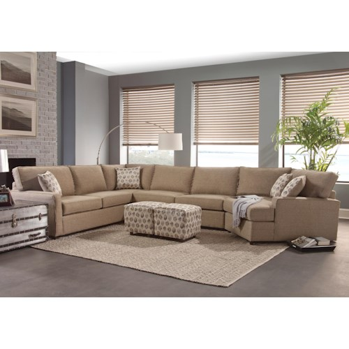 Small Sectional Sofa Clearance: Belfort Essentials Eliot Transitional Sectional Sofa