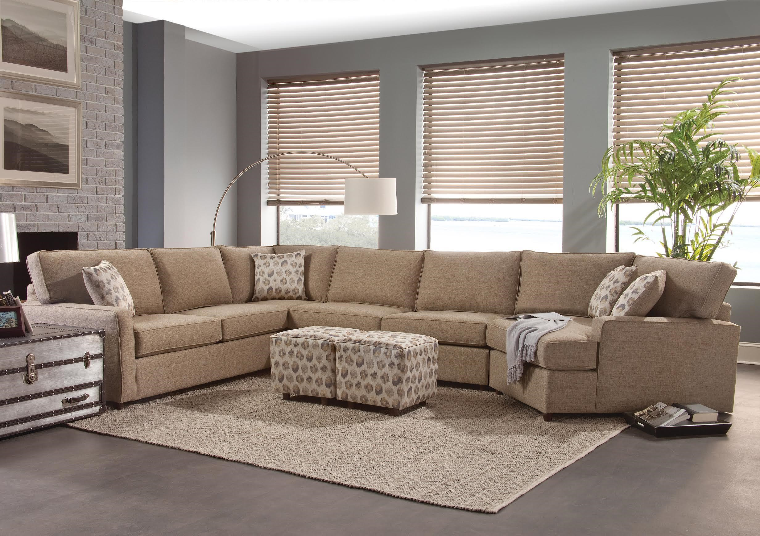Microfiber Sectional Couch Popular Sectional Sofa With Ottoman 54