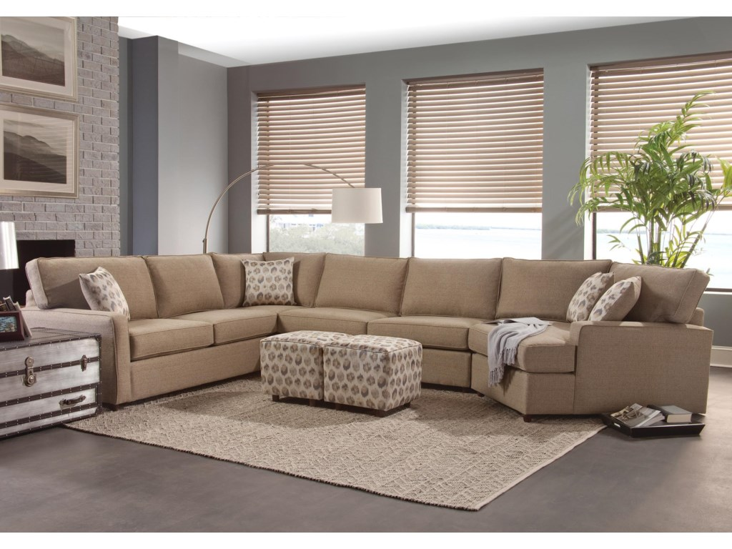 Eliot transitional sectional sofa by benchmark upholstery