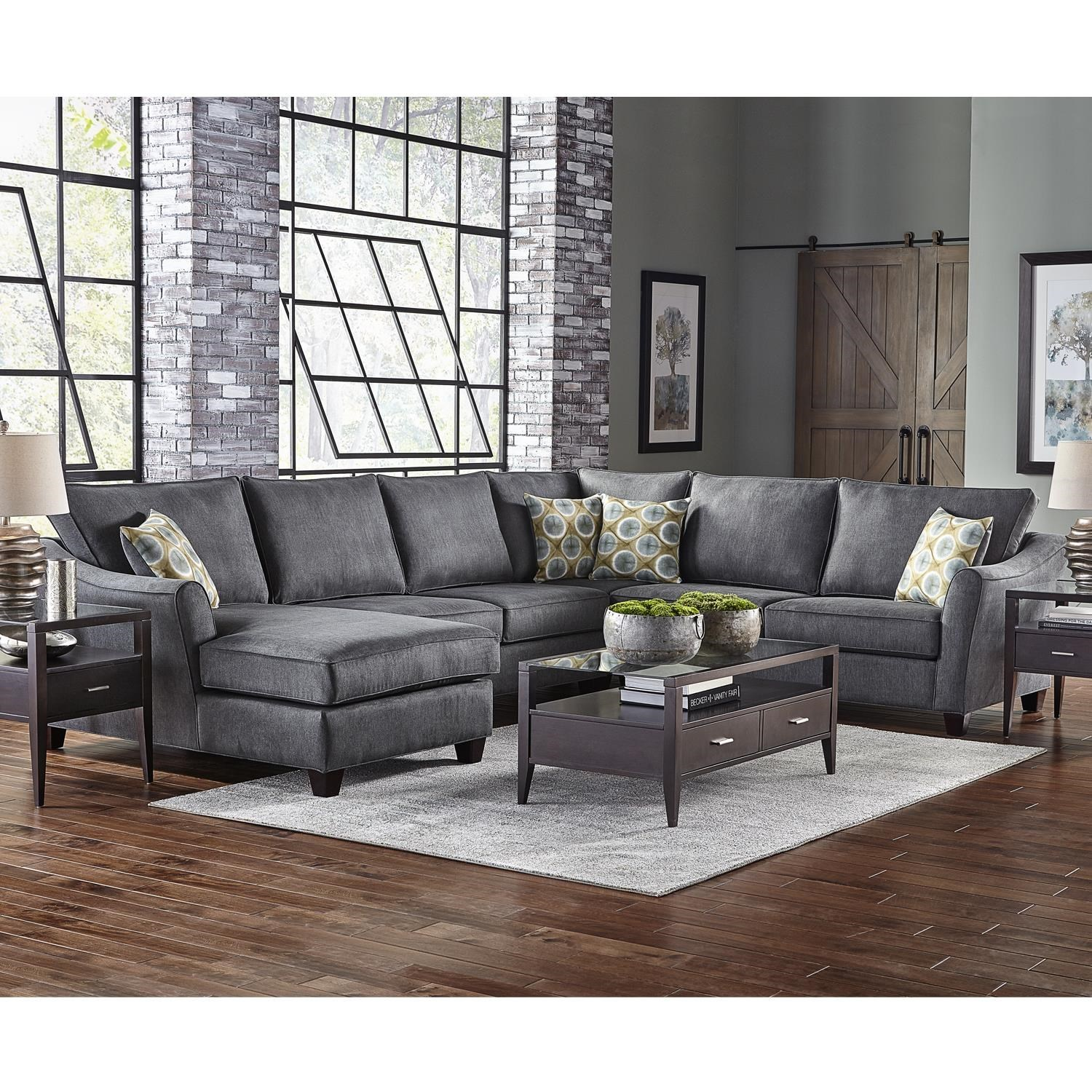 Belfort Essentials Fleetwood 6 Seat Sectional Sofa With Left Facing Chaise