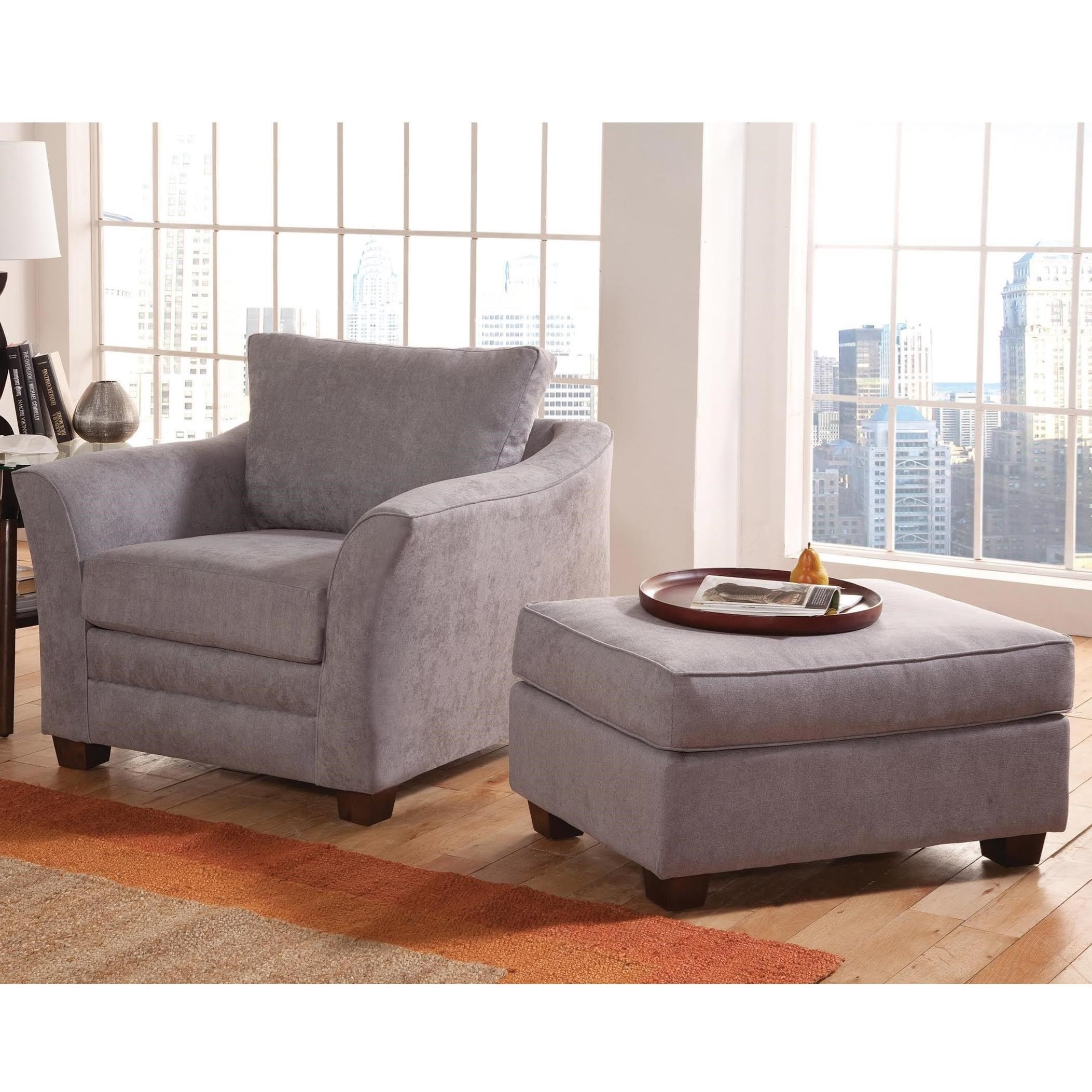 Genial Hatfield Chair And Ottoman Set By Benchmark Upholstery