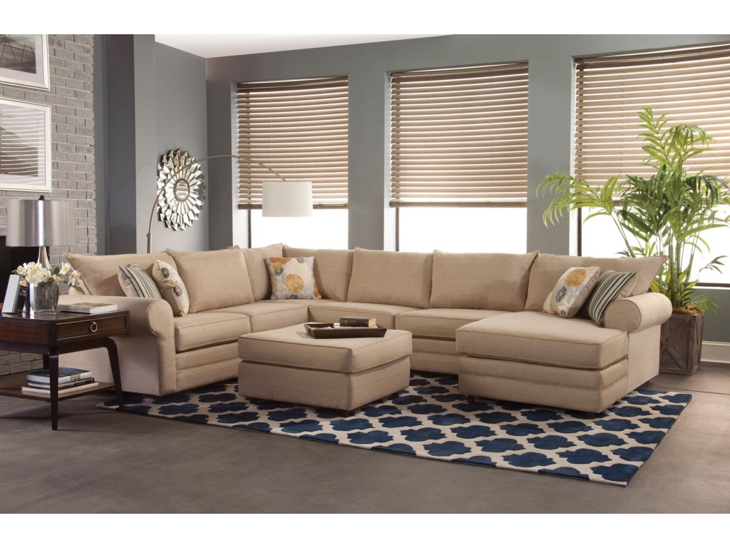 Belfort Essentials Monticello Casual Sectional Sofa With Chaise