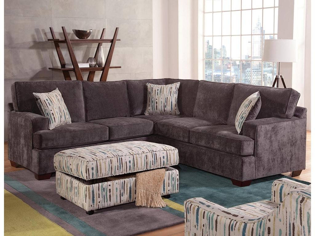 Belfort essentials rosslyn casual sectional sofa