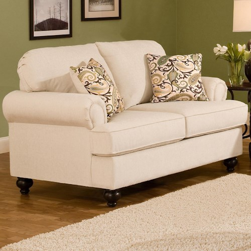 Belfort Essentials Sterling  Traditional Loveseat With Rolled Arms