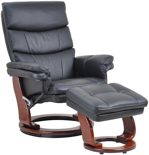 Benchmaster 7584 Casual Contemporary Reclining Chair and Ottoman